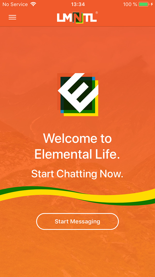 Elemental Life® App Intro Screen
