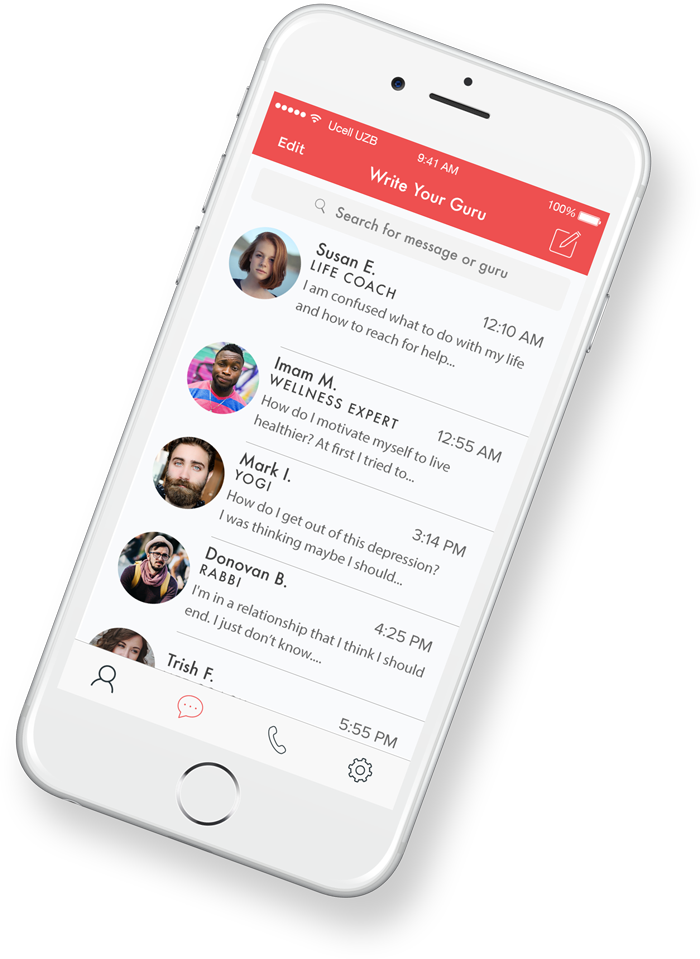 Guru And You Messenger Preview in Phone